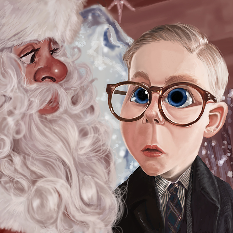 ralphie christmas story photorealism artwork