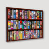 The Petty Girl Bookcase Wall Angled