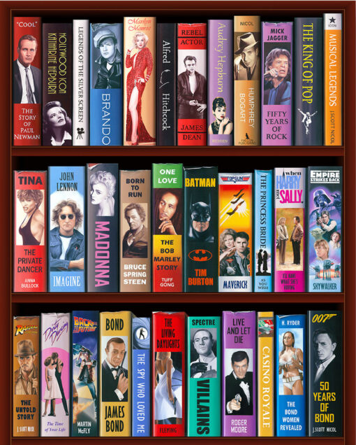 50 Years of Bond Bookcase