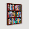 50 Years of Bond Bookcase Wall Angled