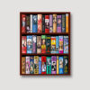 50 Years of Bond Bookcase Wall Straight