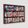 Art History Bookcase Wall Angled