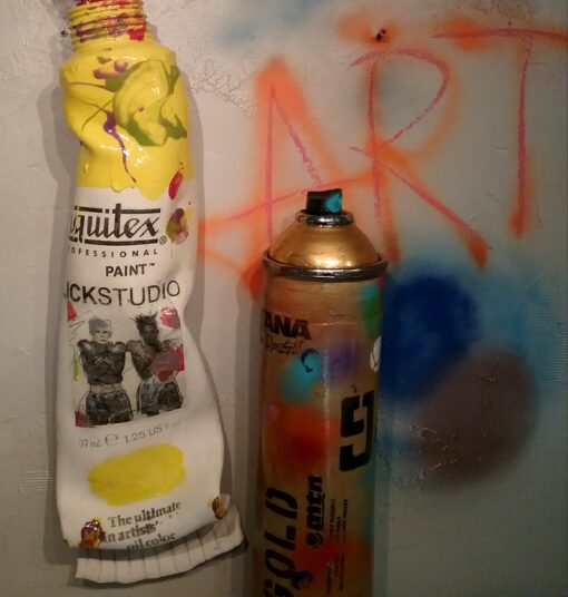 Tube and Spray Can