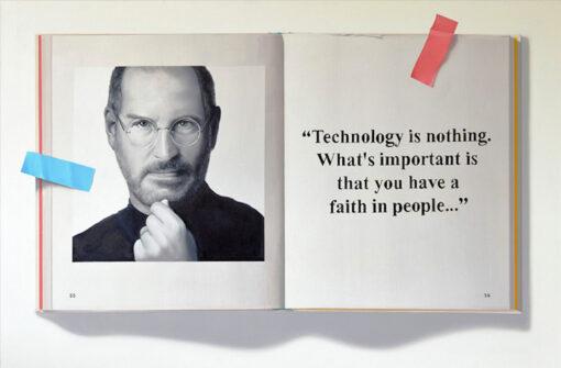 Steve Jobs Original Oil Painting by J. Scott Nicol.